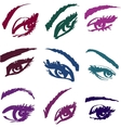Beautiful girls eyes collection vector image vector image