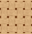 braided seamless pattern brown and beige basket vector image