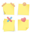 yellow stick note paper set vector image