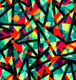 mosaic colored seamless pattern with grunge effect vector image