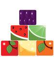 fruit pyramid vector image