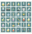 Big Science and research Web Icons set vector image