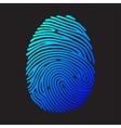 Blue color fingerprint vector image