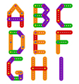 alphabet from constructor from A to I vector image