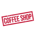 Coffee Shop rubber stamp vector image