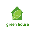 concept leaf in house vector image
