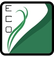 Eco Logo square - green leaves vector image