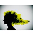 girl's head silhouette vector image