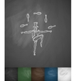 juggler icon Hand drawn vector image