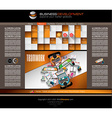 Modern website template with flat style vector image