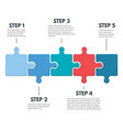 puzzle infographic steps vector image