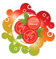 abstract background with fresh tomatoes vector image vector image