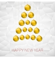 Christmas tree made from yellow balls vector image