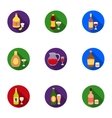 Alcohol set icons in flat style Big collection of vector image