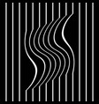 striped wavy and straight lines vector image