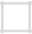 simple wicker frame monochrome pattern vector image vector image