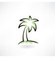palm tree grunge icon vector image