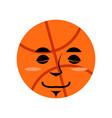 basketball sleep emoji ball sleeping emotion vector image