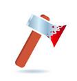 bloody axe icon vector image