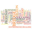 Entrepreneurialism and pigeon guano text vector image