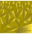 Golden Polygonal background vector image