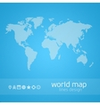 Hatched world map vector image