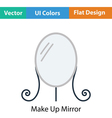 Make Up mirror icon vector image