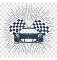 racing sports cars silhouette vector image