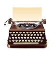 Typewriter Realistic vector image
