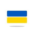 Ukraine flag state symbol stylized geometric vector image