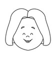woman young expression avatar face vector image