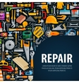 working tools logo design template vector image