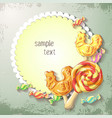 sweets of lollipop and caramel banner vector image