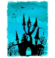 Scary Halloween Castle with Copy Space EPS 10 vector image