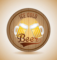 cold beer vector image