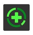 Medicine Diagram Flat Button vector image