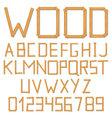 Wooden alphabet vector image