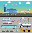 airport with airplane vector image