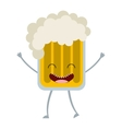 beer glass character icon vector image