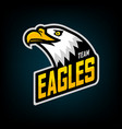 eagle logo for sport team vector image