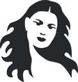 Girl in black 08 vector image