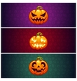 Horizontal Halloween Banners Background with vector image