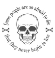 Human evil scull Death quote background vector image
