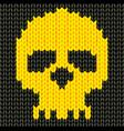 Knitted skull vector image