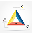 Modern triangle infographic for 3 step vector image