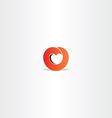 red heart gradient logo symbol sign vector image