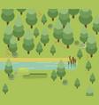 summer landscapes flat design vector image