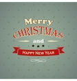 Typography Christmas Greeting Card vector image