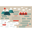 Winter Mountain Concept vector image