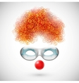 Accessories clown vector image
